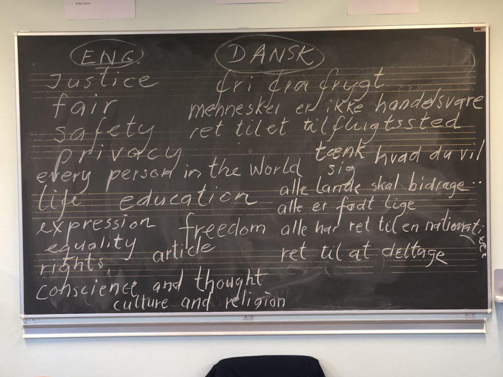 elevernes keywords om menneskerettigheder